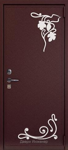 Дверь с ковкой DR285