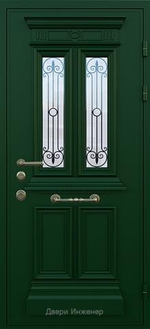 Дверь со стеклом и ковкой DR253